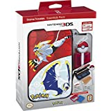 Nintendo 3DS Pokemon Sun & Moon Starter Kit - Solgaleo and Lunala with PokeBall Stylus - Nintendo 3DS