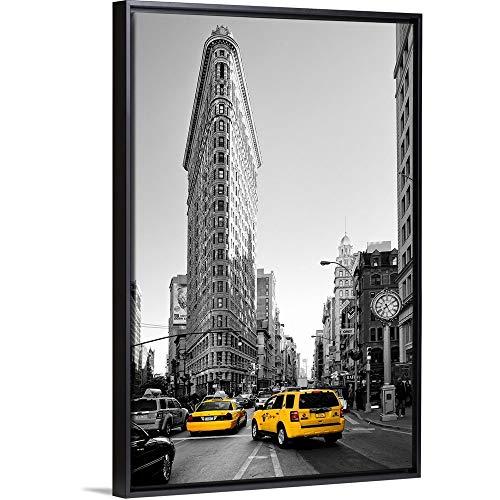 Philippe Hugonnard Floating Frame Premium Canvas with Black Frame Wall Art Print Entitled The Flatiron Building, New York 24