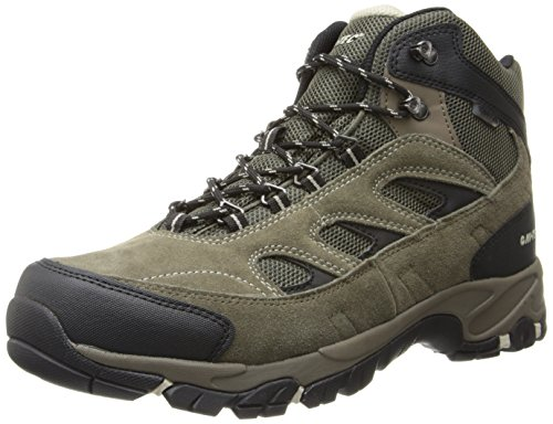 Hi-Tec Men's Logan Waterproof Hiking Boot,Smokey Brown/Olive/Snow,13 M US - Logan Leather Shoes