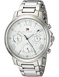 Tommy Hilfiger Womens CLAUDIA Quartz Stainless Steel Casual Watch, Color:Silver-Toned (Model: 1781741)