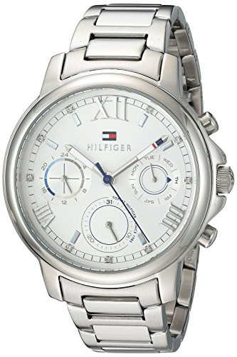 's 'Claudia' Quartz Stainless Steel Casual Watch, Color Silver-Toned (Model: 1781741) (Tommy Hilfiger Water Resistant Bracelet)