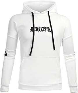 Styledresser Uomo Lungo Manica Stampato Felpa con Cappuccio Cappuccio Felpa Superiore Tee Outwear Camicetta Giacche 17.29