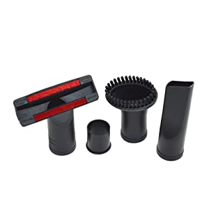 EZ SPARES 4PCS Universal 32mm-35mm 1.25inch Flexible Small Mini Tool Wand Vacuum Cleaner Crevices Tool Sofa Brush Accessories Brush Kits All Vacuum Hoses Accepting Replacement