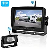 5th wheel rv backup camera - iStrong Digital Wireless Backup Camera System for RV/Truck/Trailer/5th Wheel/Motorhome Range 450ft No Flickers with 7'' Monitor Kit Rear/Front/Side View Camera Guide Lines ON/OFF IP69 Waterproof