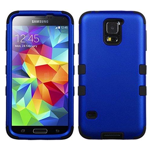MYBAT Samsung Galaxy S5Tuff hybride téléphone Coque de protection–Emballage–Titane Bleu foncé/noir