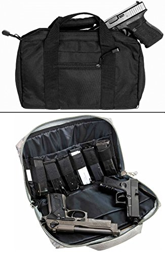 Ultimate-Arms-Gear-Stealth-Black-Smith-Wesson-SW-9mm-22-357-Sig-38-Special-40-SW-45-ACP-GAP-Discreet-Dual-Tactical-Hand-Gun-Handgun-Revolver-Case-Bag-Rag-Holds-2-Pistols-with-6-Interior-Double-Stack-S