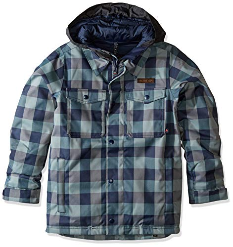 Burton Kids' Uproar Jacket, Mood Indigo Buffalo, Large ()