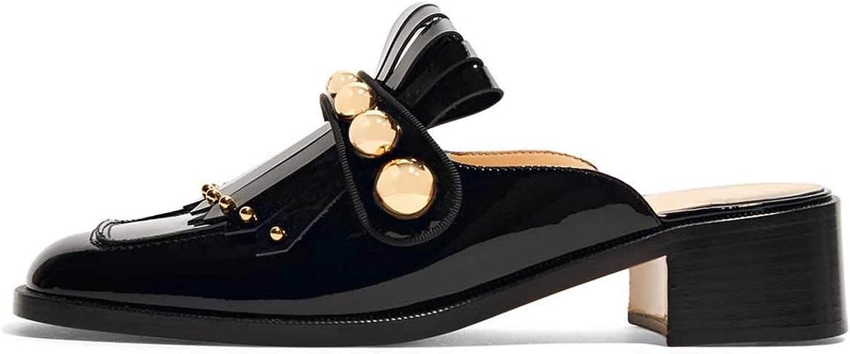 Women/'s Ladies Flats Comfort Elegance Fringe Loafer Office Pumps Slip On Shoes