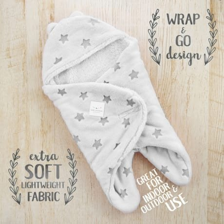 Baby Shower Gifts For Little Boys/Girls- Newborn Baby Receiving Blanket-Wrap-Swaddle- Super Soft -100% Plush Double Layered Fabric-UNISEX COLOR -BONUS MILESTONE CARDS- With Gift Box (grey)