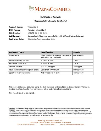 MakingCosmetics - Tripeptide-5-1.0floz / 30ml - Cosmetic Ingredient by MakingCosmetics (Image #3)