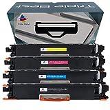 Triple Best Set of 4 Remanufactured Toner Cartridge for 130A CF353A CF352A CF351A CF350A Toner Cartridge for Color LaserJet Pro MFP M176 M177fw M176n
