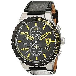 Scuderia Ferrari Homme Analogique Classique Quartz Montres bracelet avec bracelet en Cuir - 830360 22