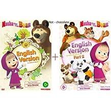 MASHA AND THE BEAR (PART 1 and 2) 1-36 EPISODES ENGLISH VERSION . 2DVD NTSC