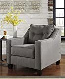 Brindon Contemporary Fiber Charcoal Color Chair