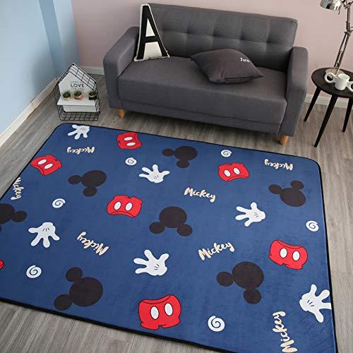 Vier Seasons Samtiger Langsamer Rebound Verdickte Wohnzimmer Matte Kind Rutschfest Kriechntes Pad Baby-pad Game Carpet Rund 150  195cm Puzzle-Park Lami