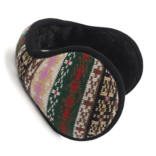 HomeDay Unisex Classic Fleece Ear Warmers Foldable Outdoor Earmuffs for Winter (Multicolor) (Head Case Helmet)