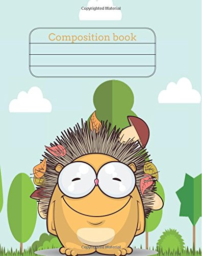 """Download Composition book: Children exercise book for school (Perfect bound, 8"""" x 10"""", 112 pages, contains inch ruler and multiplication table) (Animals exercise book) (Volume 1) PDF"""