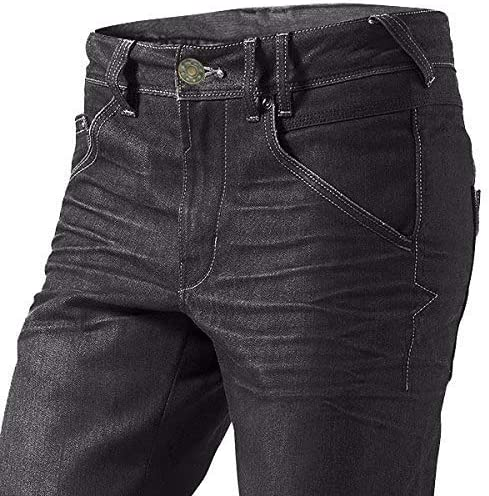 7XL , Negro Jet Pantalon Moto Hombre Jeans Kevlar Aramid Con Armadura 64 Corto//Cintura 48 Longitud 30