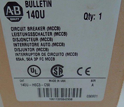 NEW ALLEN BRADLEY 140U-H6C3-C50 SERIES A CIRCUIT BREAKER 50A 3P by Allen-Bradley (Image #1)