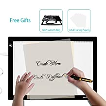 Huion 17.72 Inches Only 5mm Ultra-thin USB Power Tattoo Light Box LED ADJUSTABLE Illumination Tracer 50000 Hours Lifetime LightPad Light Desk