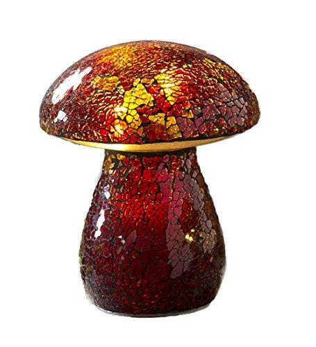 Glass Mosaic Mushroom Lawn Ornament, (Glass Ornament Mushroom)