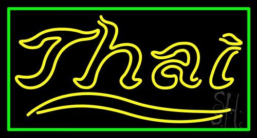 Thai Outdoor Neon Sign 20'' Tall x 37'' Wide x 3.5'' Deep by The Sign Store