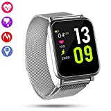 QiyuanLS Fitness Tracker Smart Watch, IP67 Waterproof Activity Tracker with Heart Rate Monitor, Smart Bracelet Step Calories Counter Pedometer Watch for Men Woman