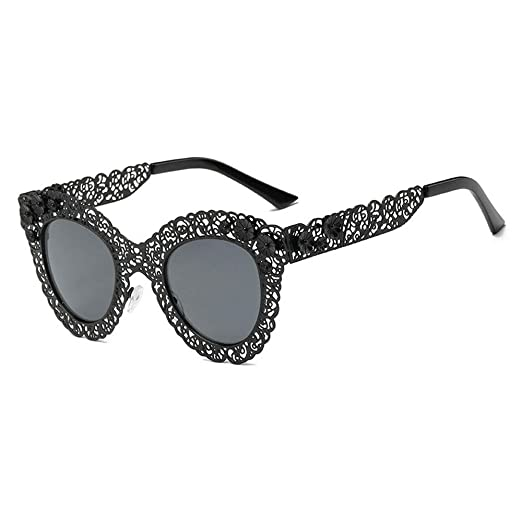 d75502536da7 2019 new cat glasses fashion retro decoration Baroque openwork lace brand  luxury designer ladies sunglasses (
