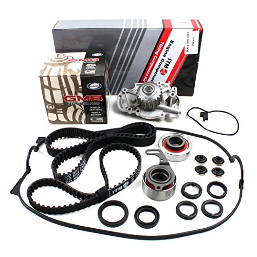New ITM186WPVC (113 Round Teeth) Timing Belt Seal Kit, Water Pump Set, & Valve Cover Gasket (w/ Grommets, Spark Plug Seals) for Honda 2.2L F22A F22B SOHC NON-VTEC Honda Balance Shaft Seal