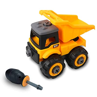 Take Apart Toys DIY Construction Vehicles Assembly Toys Dump Truck Toys with Screwdriver Simulation Dump Truck Toys Educational Toys for Kids Boys and Girls: Toys & Games