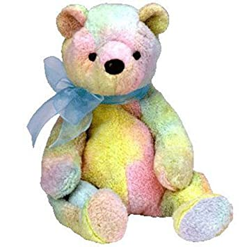 01b3003784c Amazon.com  (USA Warehouse) TY Beanie Baby - MELLOW the Ty-Dyed Bear (7.5  inch) MWMT s - Stuffed Animal Toy   ITEM NO  43E8E-UFE6 C2A2804  Toys    Games