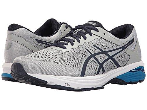 ASICS Men's GT-1000 6 Running-Shoes, Mid Grey/Peacoat/Directoire Blue, 13 2E US