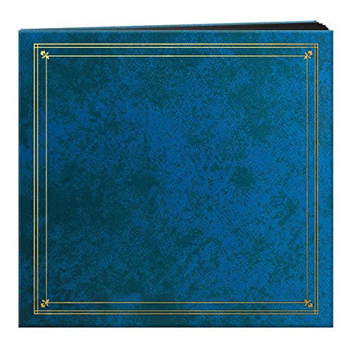 Pioneer Photo Albums 204-Pocket Post Bound Leatherette Cover Photo Album for 4 by 6-Inch Prints, Royal Blue ()