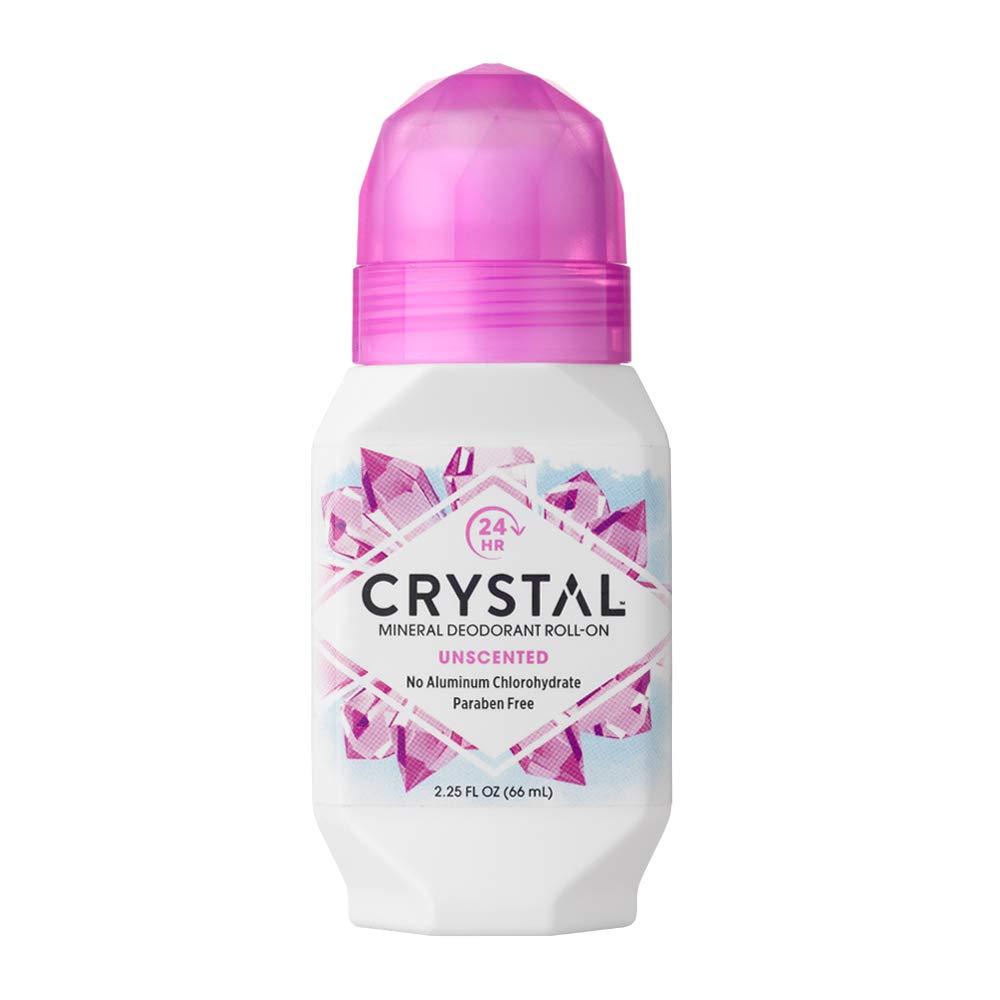 CRYSTAL BODY DEODORANT Roll-On - Unscented (2.25 fl oz)