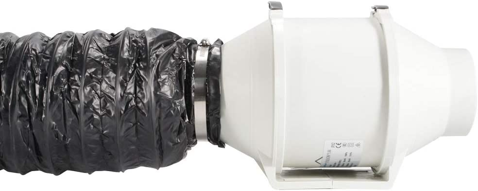 Rohrventilator Hon/&Guan Flexibel Abluftschlauch 125mm 125mm*1.2m Schallged/ämmter W/ärmeisolierung L/üftungsschlauch f/ür Klimaanlage