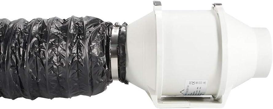 Hon/&Guan Tuyau de Ventilation Isolant Thermique et Silencieux Ventilateur Extracteur 150mm*1.2m Gaine PVC Isol/ée pour Climatisation