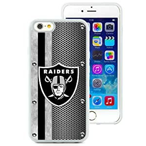 Fashionable And Nice Designed Case For iPhone 6 4.7 Inch TPU With Oakland Raiders 04 White Phone Case
