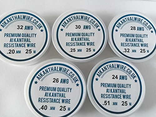 Kanthal A1 Type Resistance Wire Pack - 'Big 5 Starter Pack' -...