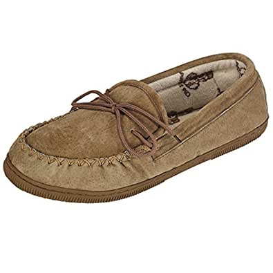 Old Friend Mens and Womens Terry Cloth Moccasin Slippers