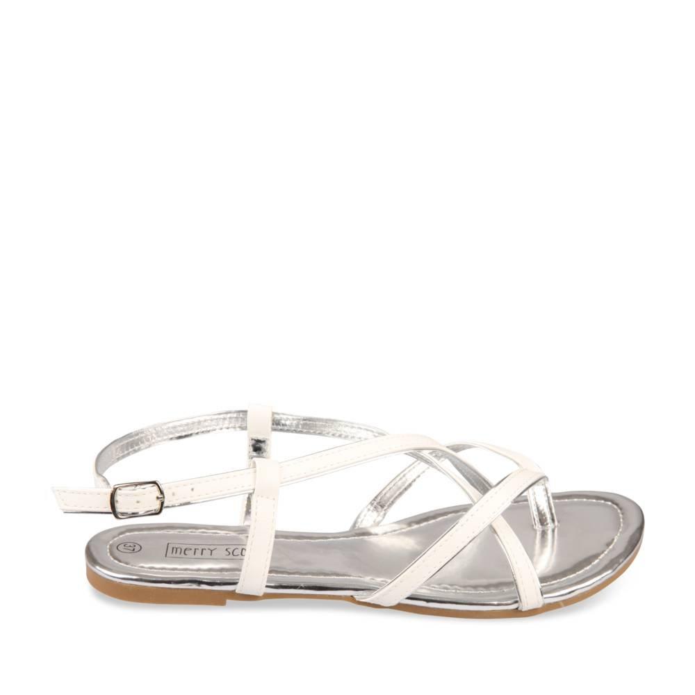 391a84087277 Nu-Pieds BLANC MERRY SCOTT Femme Chaussea  Amazon.fr  Chaussures et Sacs