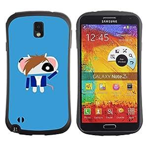 Pulsar iFace Series Tpu silicona Carcasa Funda Case para SAMSUNG Galaxy Note 3 III / N9000 / N9005 , Cute Punk Android Mouse