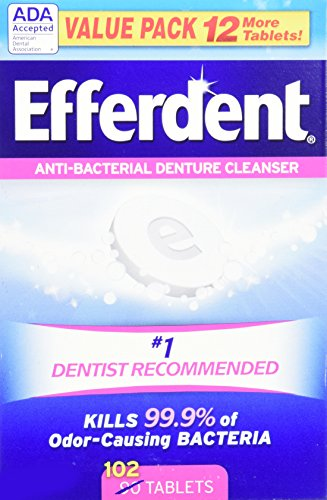 Price comparison product image Efferdent Original Anti-Bacterial Denture Cleanser Tablets, 102 Count