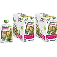 10 Pack Sprout Stage 2 Organic Baby Food Pouches (Green Beans Peas Butternut Squash)