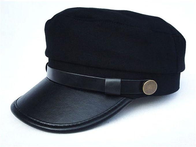 Gorra militar para mujer de color negro y 57 cm: Amazon.es: Jardín