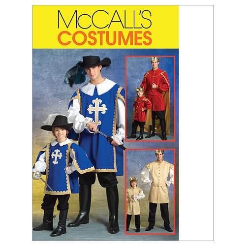 [McCall's Patterns M5214 Men's/Children's/Boys' Musketeer and Prince Costumes, Size KID [(3-4) (5-6)] (Three Musketeers Costume)