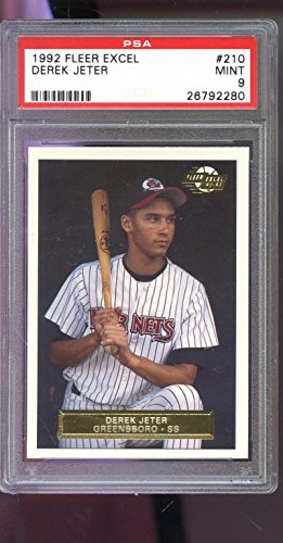 1992 Fleer Excel #210 Derek Jeter ROOKIE RC MINT PSA 9 Graded Baseball Card (1992 Donruss Card)