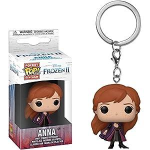 Anna: Funko Pocket Pop! Mini-Figural Keychain & 1 Classic Trading Card Bundle (40906)