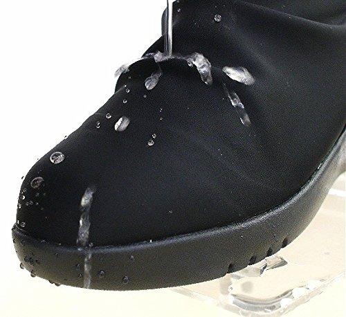 パンジーシューズ ストレッチ 厚底 撥水加工 スリッポン靴