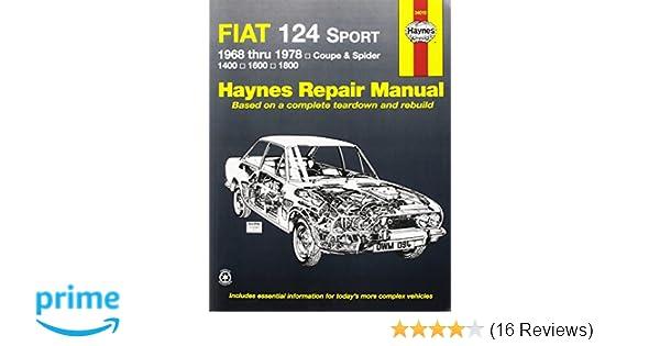 Fiat 124 sportspider 6878 haynes repair manuals haynes fiat 124 sportspider 6878 haynes repair manuals haynes 9780900550942 amazon books fandeluxe Images