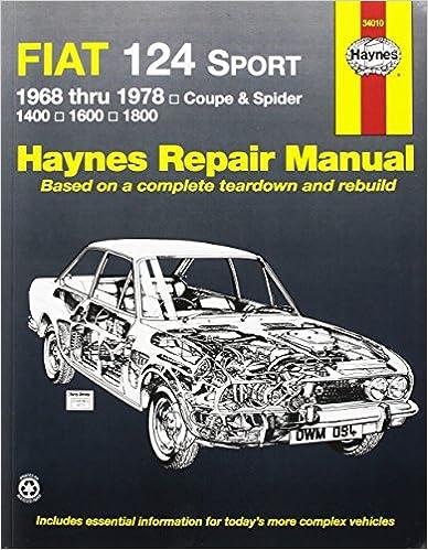 Fiat 124 sportspider 6878 haynes repair manuals haynes fiat 124 sportspider 6878 haynes repair manuals 1st edition fandeluxe Images